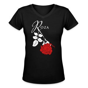 Roza - Women's V-Neck T-Shirt