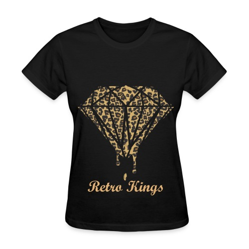 Retro Kings Cheetah Diamond T-Shirt - Women's T-Shirt