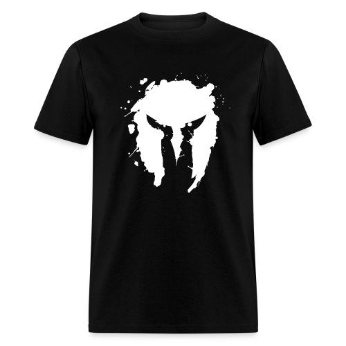 Spartan Grunge Tee (White) - Men's T-Shirt