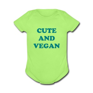 Cute And Vegan Baby's Short Sleeve One Piece - Short Sleeve Baby Bodysuit