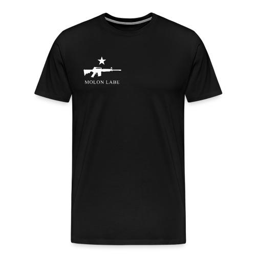 Molon Labe - T-Shirt (Black)  - Men's Premium T-Shirt