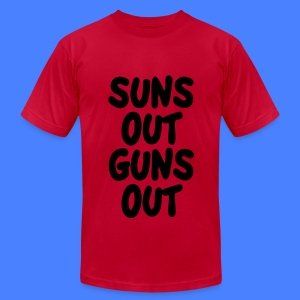 Suns Out Guns Out T-Shirts - Men's T-Shirt by American Apparel