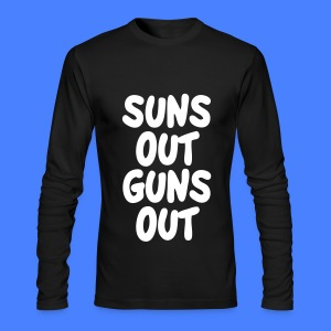 Suns Out Guns Out Long Sleeve Shirts - Men's Long Sleeve T-Shirt by Next Level
