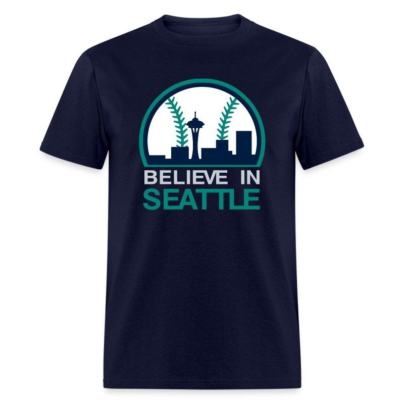 VICTRS Believe In Seattle Baseball Shirt - Men's T-Shirt