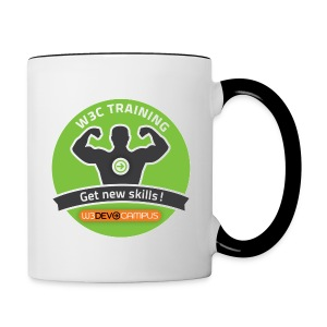 w3devcampus_green_badge_mug - Contrast Coffee Mug