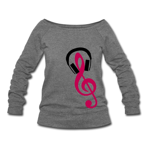 Music is life - Women's Wideneck Sweatshirt