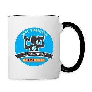 w3devcampus_blue_badge_mug - Contrast Coffee Mug