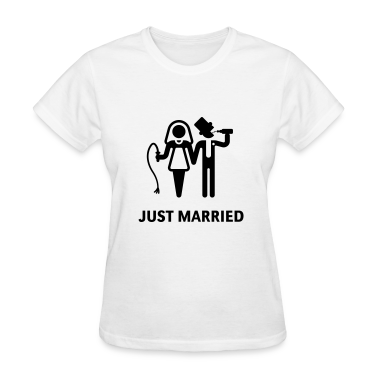 Just Married (Whip and Beer) Women's T-Shirts