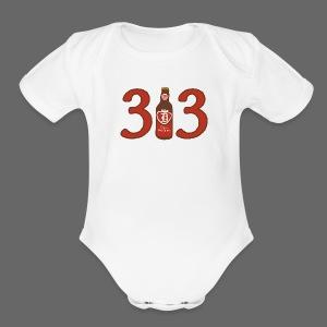 313 Pop - Short Sleeve Baby Bodysuit