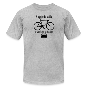 A butt in the saddle - Men's T-Shirt by American Apparel