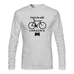 A butt in the saddle - Men's Long Sleeve T-Shirt by Next Level