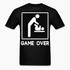 Game Over New Baby for Parent Dad T-Shirts