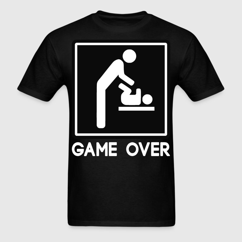 Game Over New Baby for Parent Dad T-Shirts - Men's T-Shirt