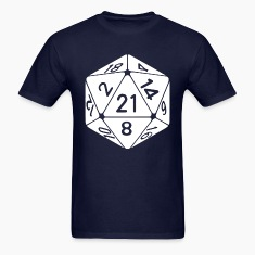 21 Sided 21st Birthday D20 Fantasy Gamer Die T-Shirts