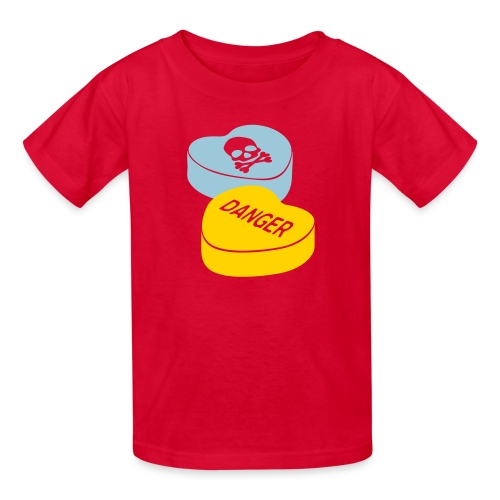 Caution Hearts - Kid's - Kids' T-Shirt