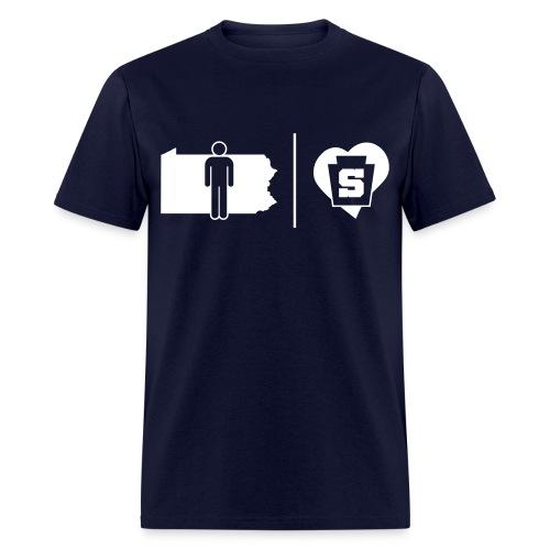PA Guy w/ a Penn State Heart - Men's T-Shirt