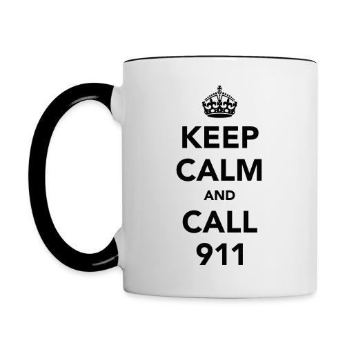 Keep Calm 911 Mug - Contrast Coffee Mug