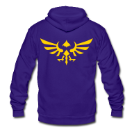 Zip Hoodies & Jackets ~ Unisex Fleece Zip Hoodie by American Apparel ~ Hylian Crest
