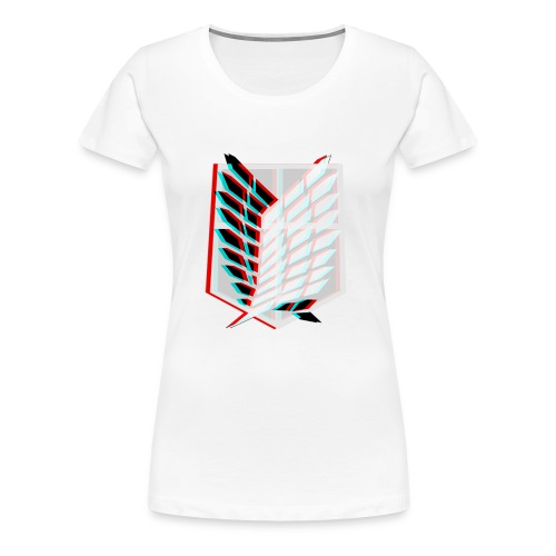 Attack On Titan: Wings of Freedom T-shirt 3D - Women's Premium T-Shirt