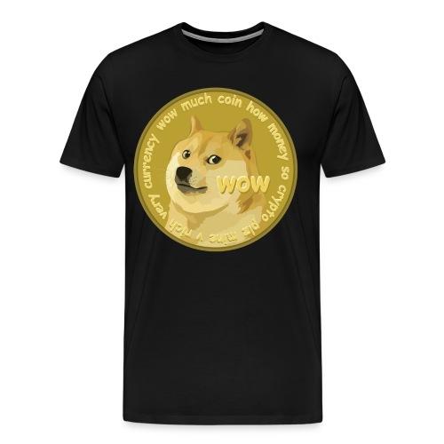 DOGECOIN logo t-shirt - Men's Premium T-Shirt