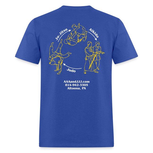 Men's standard t-shirt white/gold logo white/gold artwork