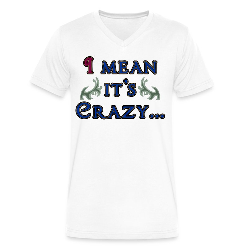 I Mean Its Crazy - Men's V-Neck T-Shirt by Canvas