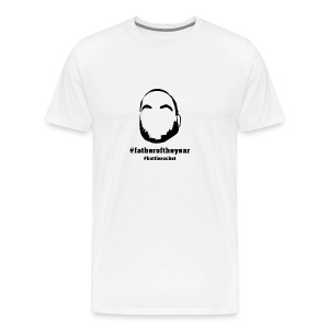 Men's - #fatheroftheyear - White - Men's Premium T-Shirt