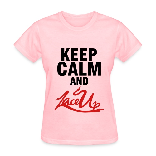 Keep Calm and Lace Up Tee - Women's T-Shirt