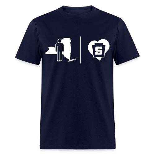 NY Guy w/ a Penn State Heart - Men's T-Shirt