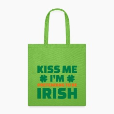 Kiss me I'm pretending Irish Bags & backpacks