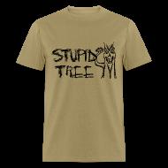 T-Shirts ~ Men's T-Shirt ~ Stupid Tree Disc Golf Shirt - Black Print - Standar Shirt