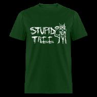 T-Shirts ~ Men's T-Shirt ~ Stupid Tree Disc Golf Shirt - Men's Standard Tee - White Print