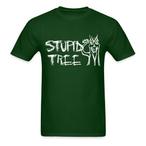 Stupid Tree Disc Golf Shirt - Men's Standard Tee - White Print - Men's T-Shirt