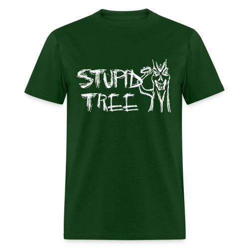 Stupid Tree Disc Golf Shirt - Men's Standard Tee - White Print - Men's T-Shirt