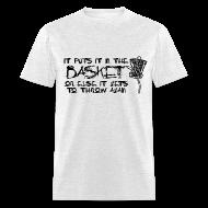T-Shirts ~ Men's T-Shirt ~ It Puts It In the Basket Disc Golf Shirt - Men's Standard Tee - Black Print