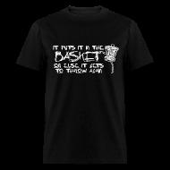 T-Shirts ~ Men's T-Shirt ~ It Puts It In the Basket Disc Golf Shirt - Men's Heavyweight  Tee - White Print