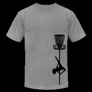 T-Shirts ~ Men's T-Shirt by American Apparel ~ Disc Golf Diva Pole Dancer - Men's Fitted Shirt - Black Print