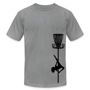 Disc Golf Diva Pole Dancer - Men's Fitted Shirt - Black Print - Men's Fine Jersey T-Shirt