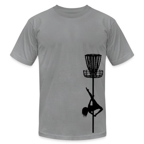 Disc Golf Diva Pole Dancer - Men's Fitted Shirt - Black Print - Men's Fine Jersey T-Shirt