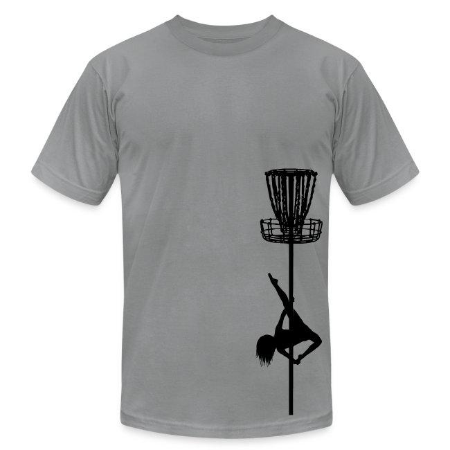 Disc Golf Diva Pole Dancer - Men's Fitted Shirt - Black Print
