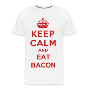 Keep Calm, and Eat Bacon Men's Tee - Men's Premium T-Shirt