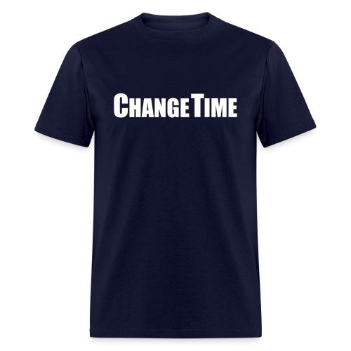 Men CHANGETIME Standard T-Shirt Navy - Men's T-Shirt