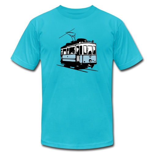t-shirt - historical tram - Men's Fine Jersey T-Shirt