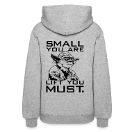 Hoodies ~ Women's Hooded Sweatshirt ~ Small you are lift you must | womans hoodie