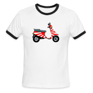 T-Shirts ~ Men's Ringer T-Shirt by American Apparel ~ Japanese Imperial Scooter