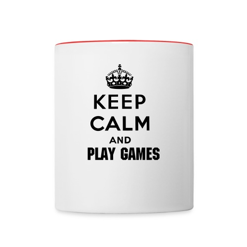 Keep Calm and Play Games mug - Contrast Coffee Mug