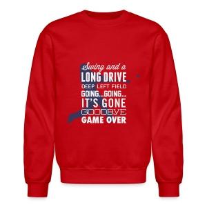 Swing and a Long Drive! Men's Sweatshirt - Crewneck Sweatshirt