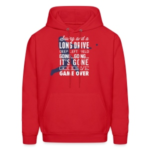 Swing and a Long Drive! Men's Hooded Sweatshirt - Men's Hoodie