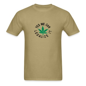 men's standard shirt yes we can legalize it - Men's T-Shirt