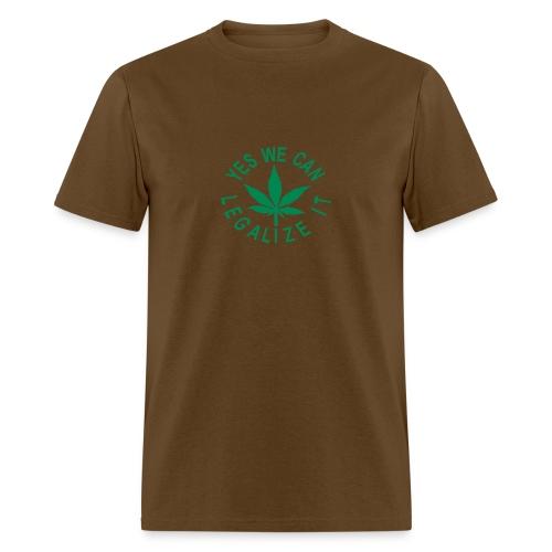 men's standard uni-flock shirt yes we can legalize it - Men's T-Shirt